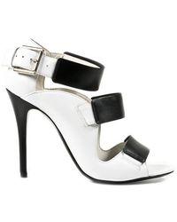 Alexander McQueen White Sandal - Lyst