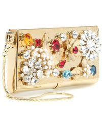 Dolce & Gabbana Embellished Metal Clutch - Lyst