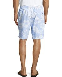 Neiman Marcus - Fancy Floral-print Swim Trunks - Lyst