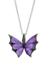 Stephen Webster Fly By Night Amethyst Bat-Moth Pendant Necklace - Lyst