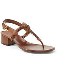 Gucci 'Candy' Suede & Leather Sandal - Lyst