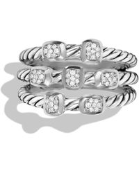 David Yurman Confetti Ring with Diamonds - Lyst