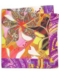 Etro Silk Paisley-Print Pocket Square - Lyst