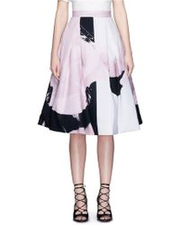 Nicholas | Paint Floral Print Ball Skirt | Lyst