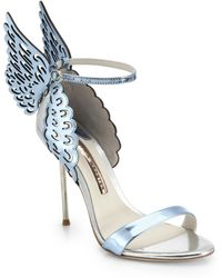 Sophia Webster Evangeline Winged Leather Sandals blue - Lyst