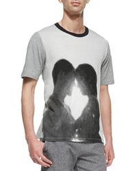 Band Of Outsiders Dot Graphic Print Couple Tee - Lyst