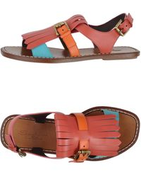 Santoni Pink Sandals - Lyst