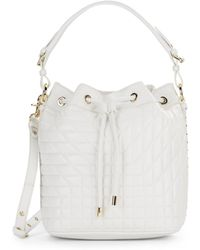 Badgley Mischka Clarisse Quilted Leather Bucket Bag - Lyst