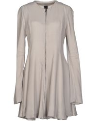 Gareth Pugh Short Dress gray - Lyst
