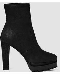 AllSaints | Gosset Shearling Boot | Lyst
