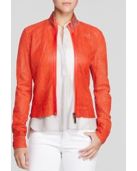 Elie Tahari Cleary Leather Jacket - Lyst