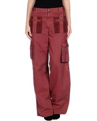 D&G Red Casual Pants - Lyst