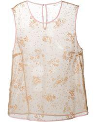 Mary Katrantzou Floral Embellished Sleeveless Top - Lyst