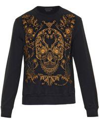 Alexander McQueen Skull-Embroidered Sweatshirt - Lyst