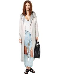 Nasty Gal After Party Vintage Rain Check Trench Coat - Lyst