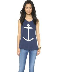 Sol Angeles Anchor Muscle Tank - Navy blue - Lyst