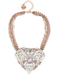 Betsey Johnson - Ballerina Rose Swan Statement Necklace - Lyst