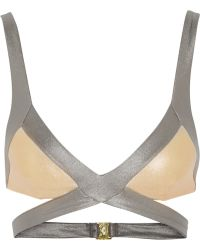 Agent Provocateur Mazzy Metals Triangle Bikini Top - Lyst