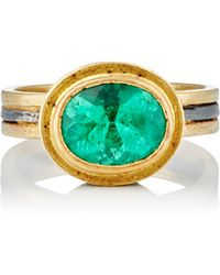 Judy Geib - Colombian & Pave Emerald Ring - Lyst