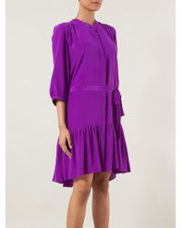 Saloni Tyra Blouse Dress - Lyst