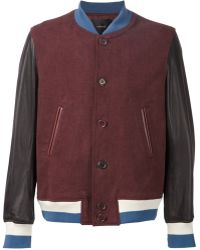 Undercover Contrasting Sleeves Bomber Jacket - Lyst