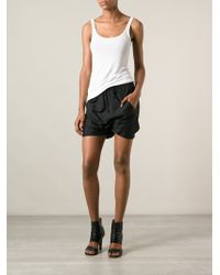 Rick Owens Dropped Crotch Shorts - Lyst
