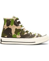 Converse Premium Chuck Taylor Green Camo Chuck Taylor All Star 70S High Top Sneakers - Lyst