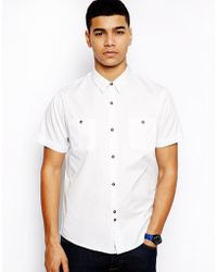 Bellfield - Oxford Shirt with Short Sleeve - Lyst