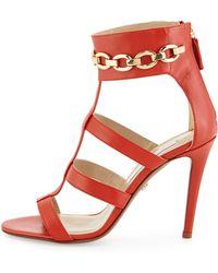 Diane von Furstenberg Uma Leather Sandal - Lyst
