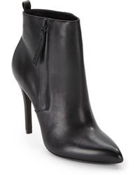 Pour La Victoire Zane Point Toe Leather Ankle Bootsred - Lyst