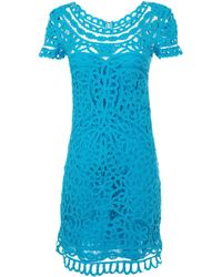 Sea Short Sleeve Lace Dress - Lyst