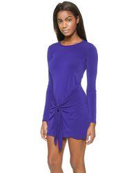 Rachel Zoe Enya Wrap Sarong Dress - Ocean - Lyst