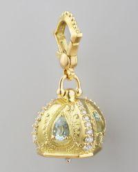 Paul Morelli - 18k Diamond/aquamarine Meditation Bell Pendant - Lyst