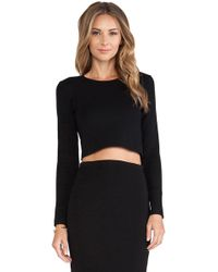 RVN Basic Long Sleeve Boxy Crop Top