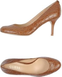 Guess Brown Pump - Lyst