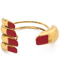 Erickson Beamon - Get A Grip Armcuff - Gold/red - Lyst
