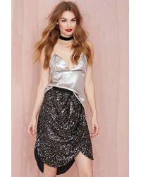 Nasty Gal Joa City Lights Sequin Skirt - Lyst