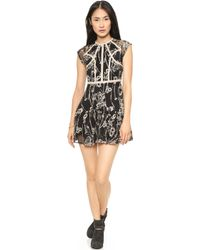 Free People Laurel Lace Dress Black - Lyst