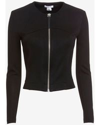 Helmut Lang Lateral Draped Fitted Crop Jacket - Lyst