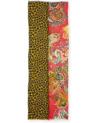 Etro Double-Sided Floral/Paisley Scarf - Lyst