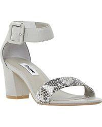 Dune Joye Block Heeled Leather Sandals - Lyst