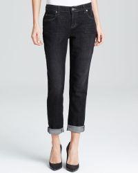 Eileen Fisher Boyfriend Jeans in Vintage Black - Lyst