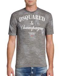 DSquared² Champagne Tshirt - Lyst