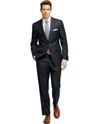 Brooks Brothers Fitzgerald Fit Blue And White Stripe 1818 Suit - Lyst