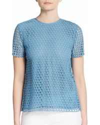 Tory Burch | Crescent Guipure Cotton Top | Lyst