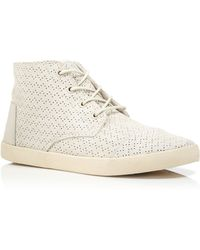 TOMS Lace Up High Top Sneakers - Paseo Perforated - Lyst