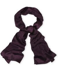 Dior Solid Silk Scarf purple - Lyst