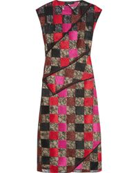 Jonathan Saunders Nina Patchwork Embroidered Lace Dress - Lyst