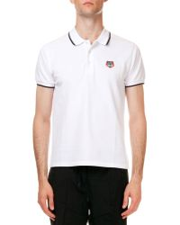 Kenzo Tipped Tiger Short Sleeve Pique Polo - Lyst
