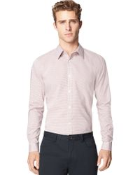 Calvin Klein Modern Fit Dusty Stripe Sport Shirt - Lyst